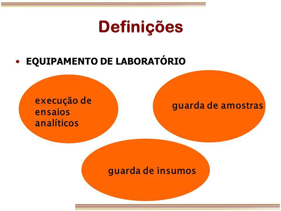 Definições EQUIPAMENTO DE LABORATÓRIO guarda de amostras