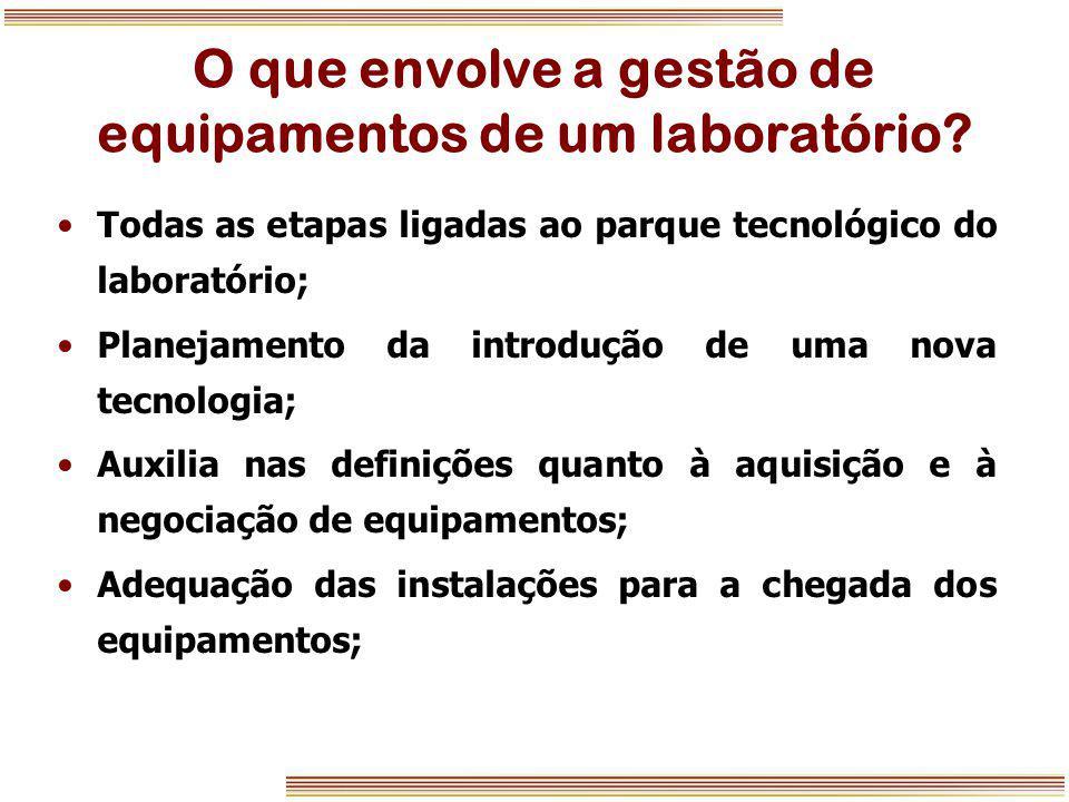 O que envolve a gestão de equipamentos de um laboratório