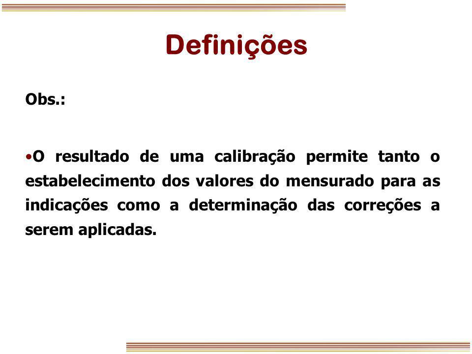 Definições Obs.: