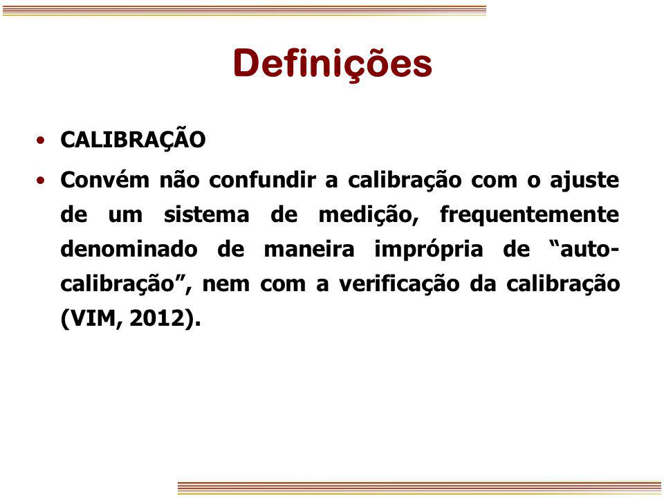 Definições CALIBRAÇÃO