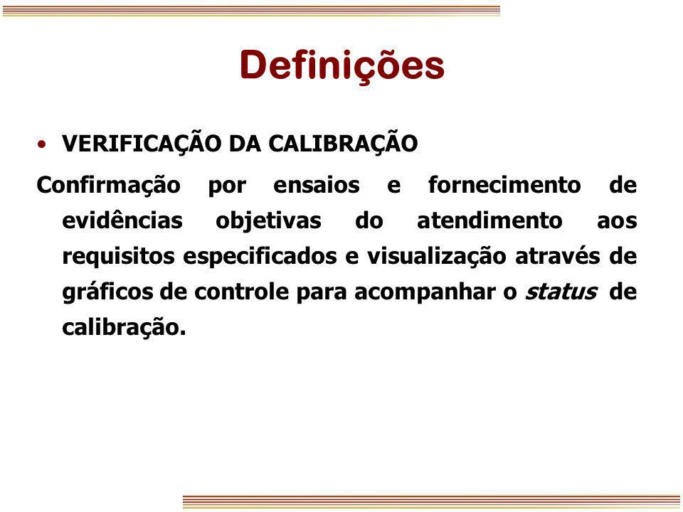 Definições VERIFICAÇÃO DA CALIBRAÇÃO
