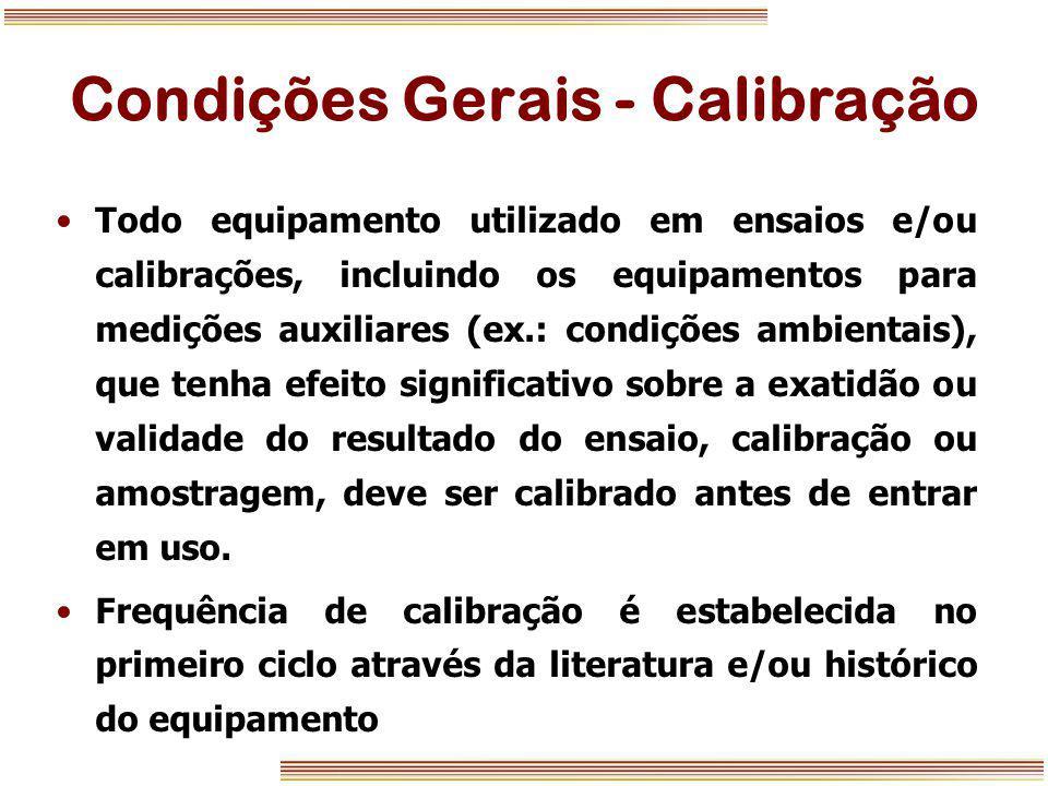 Condições Gerais - Calibração