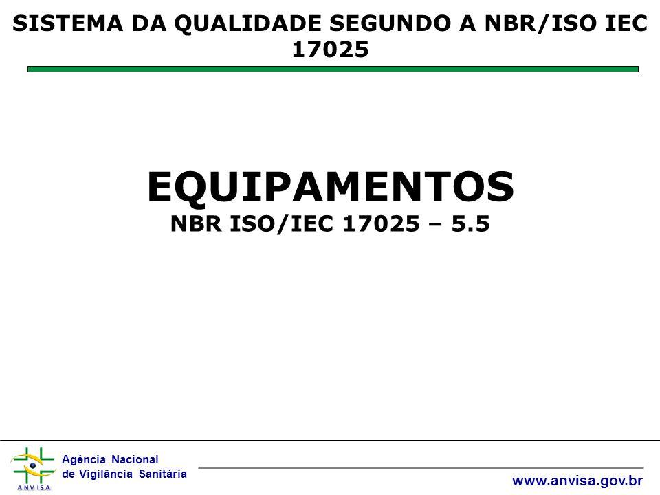 EQUIPAMENTOS NBR ISO/IEC 17025 – 5.5