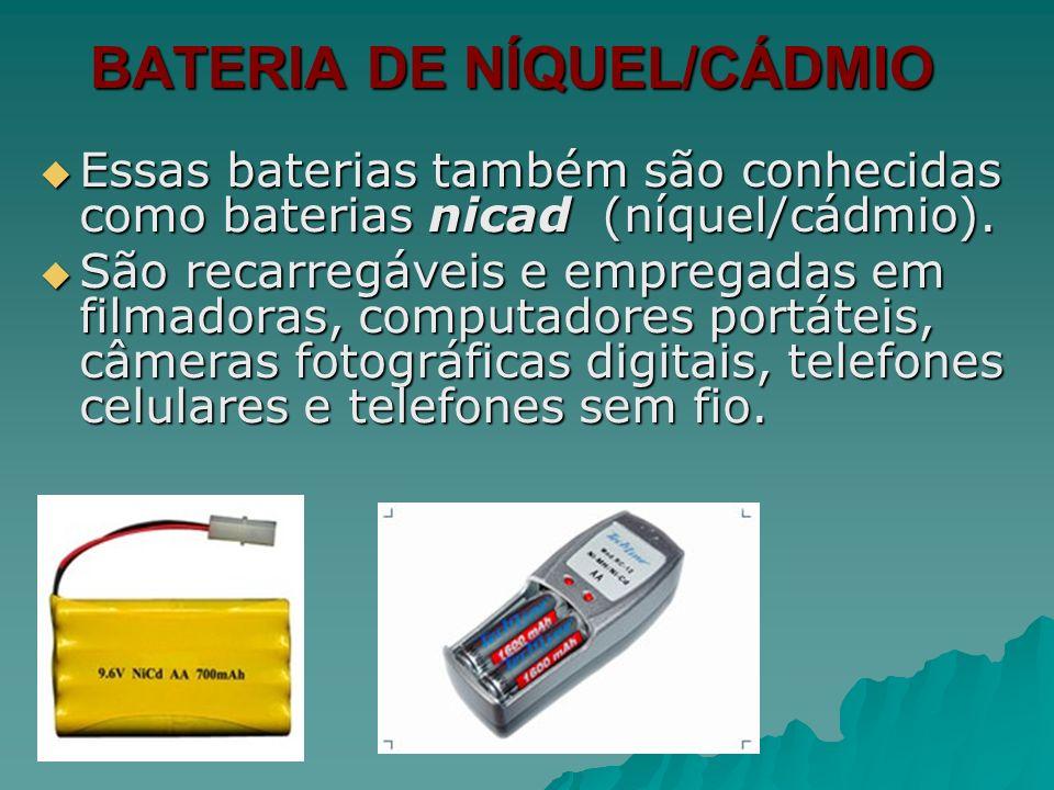 BATERIA DE NÍQUEL/CÁDMIO