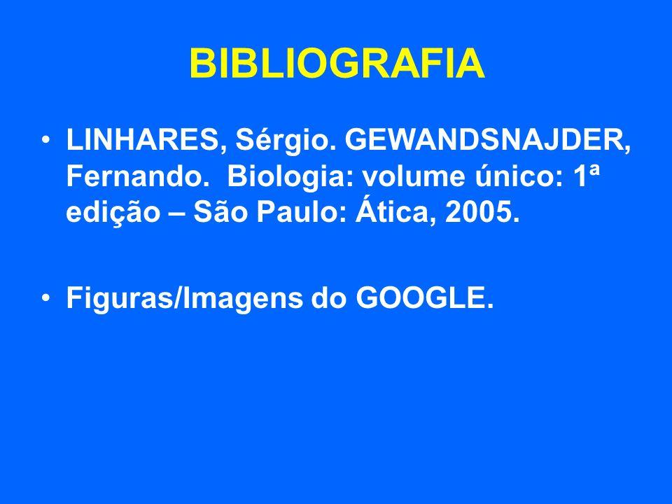 BIBLIOGRAFIALINHARES, Sérgio. GEWANDSNAJDER, Fernando. Biologia: volume único: 1ª edição – São Paulo: Ática, 2005.