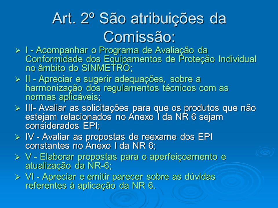 Art. 2º São atribuições da Comissão: