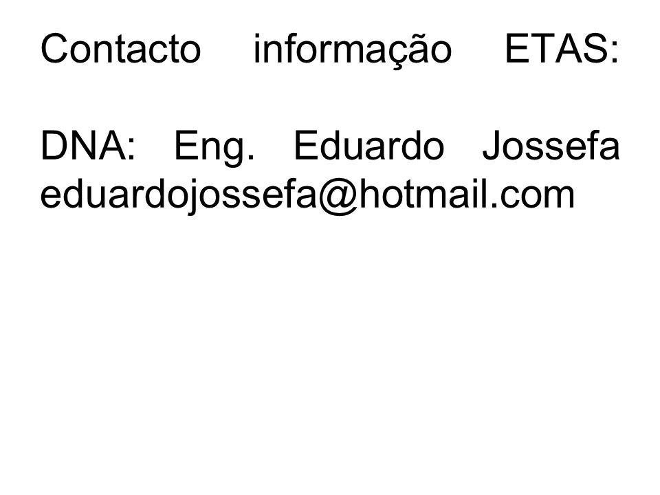 Contacto informação ETAS: DNA: Eng
