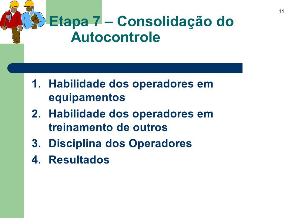 Etapa 7 – Consolidação do Autocontrole