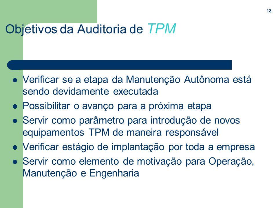 Objetivos da Auditoria de TPM
