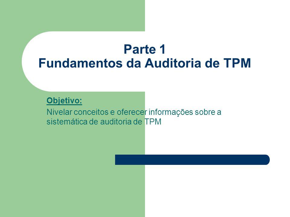 Parte 1 Fundamentos da Auditoria de TPM