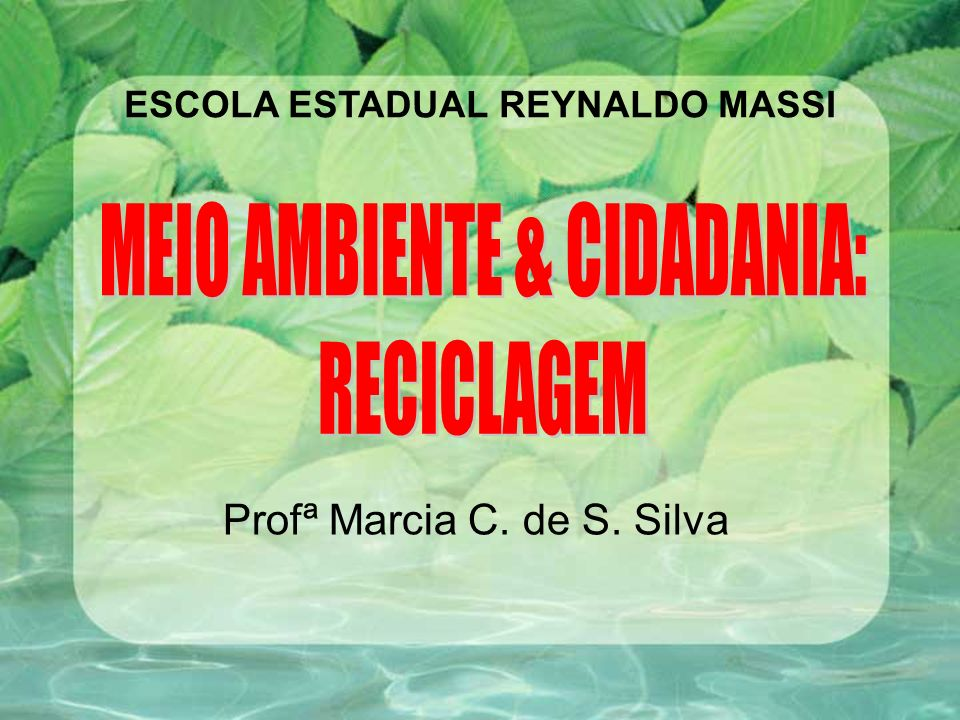 Profª Marcia C. de S. Silva