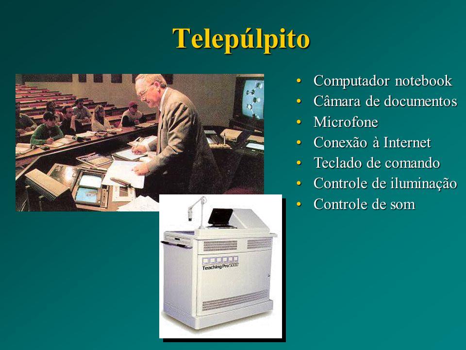Telepúlpito Computador notebook Câmara de documentos Microfone