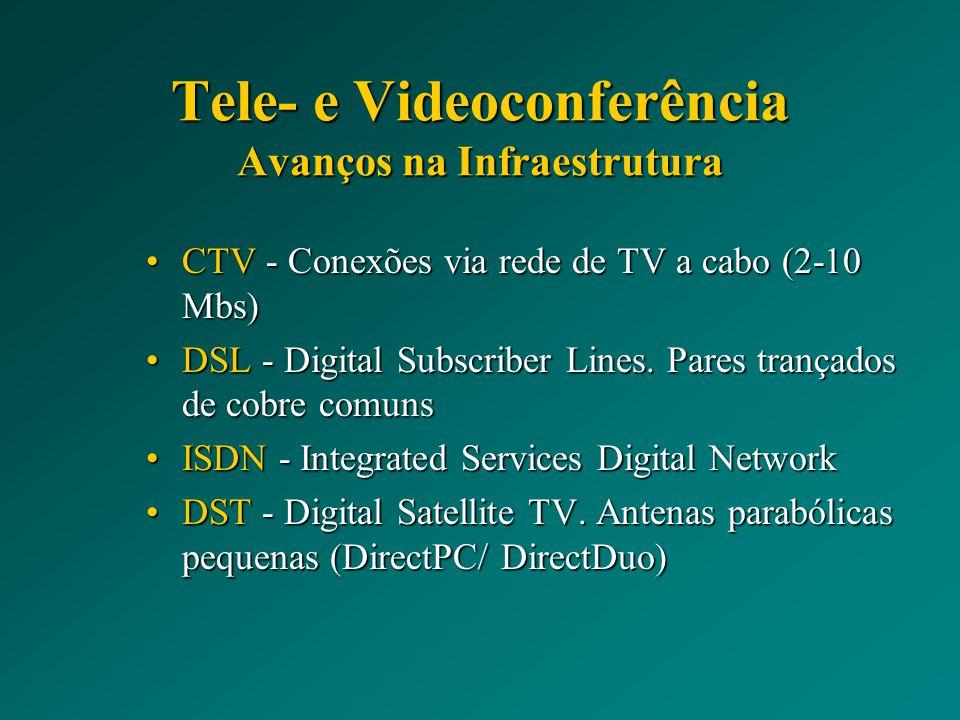 Tele- e Videoconferência Avanços na Infraestrutura