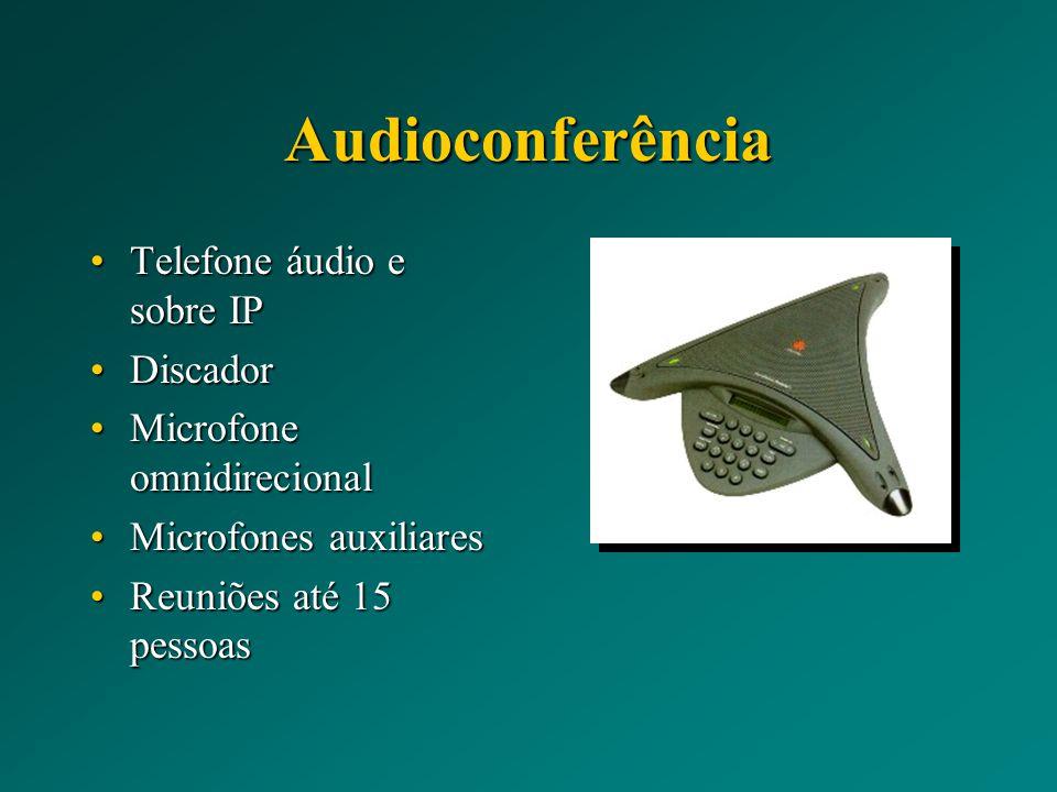Audioconferência Telefone áudio e sobre IP Discador