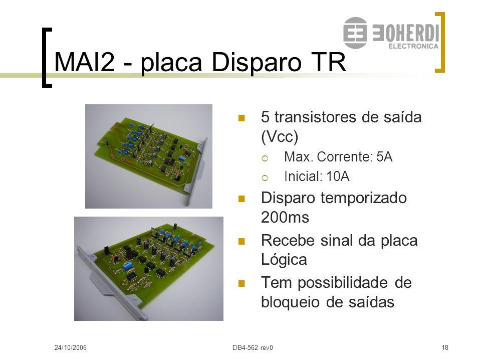 MAI2 - placa Disparo TR 5 transistores de saída (Vcc)