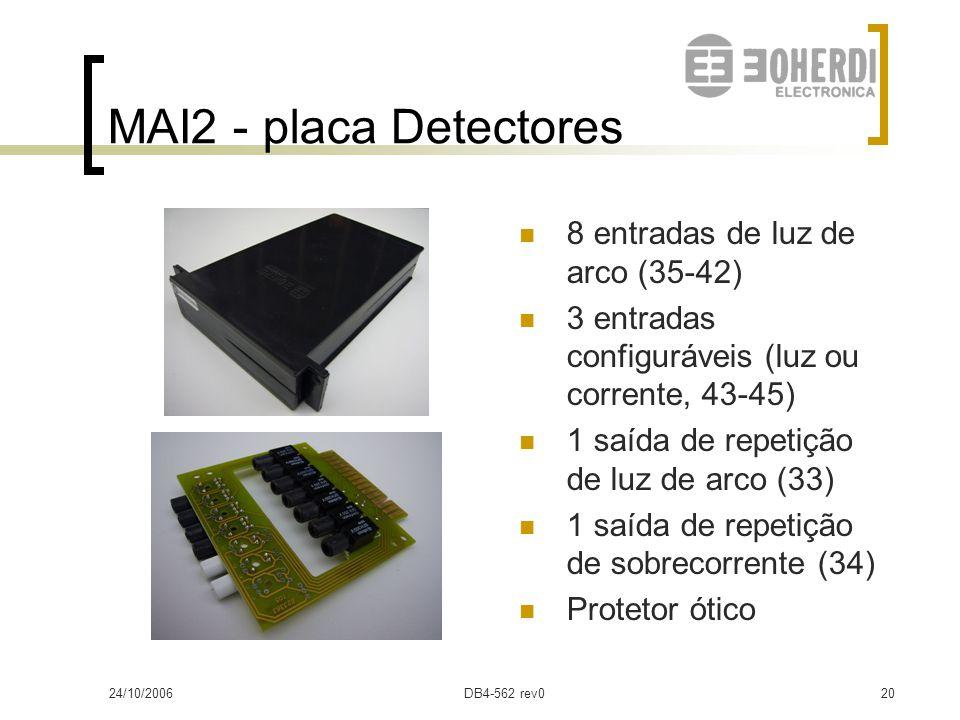 MAI2 - placa Detectores 8 entradas de luz de arco (35-42)