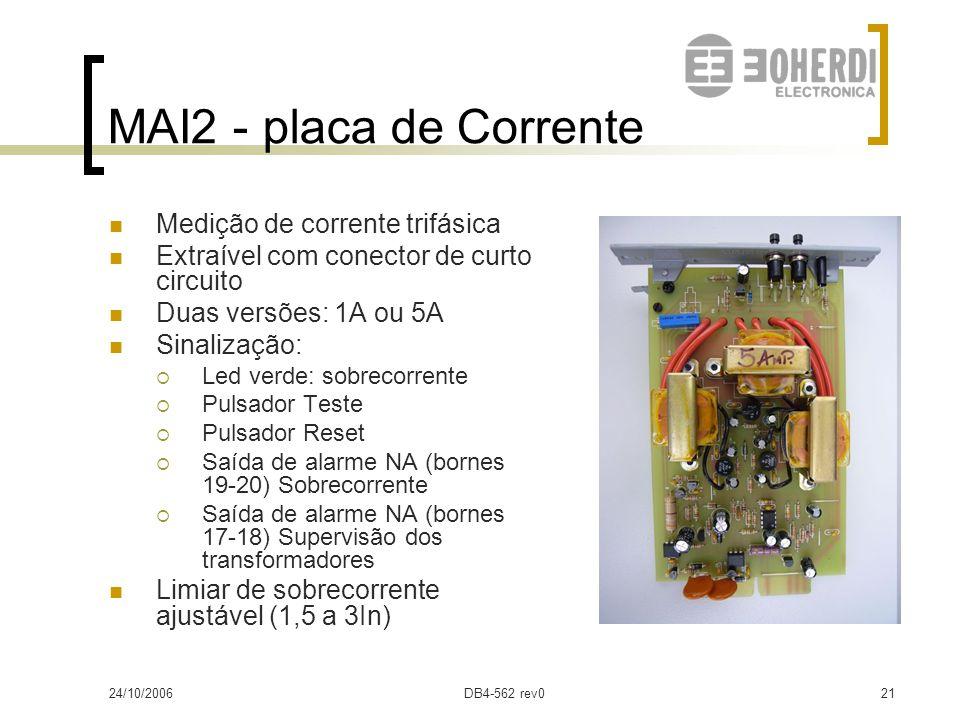MAI2 - placa de Corrente Medição de corrente trifásica