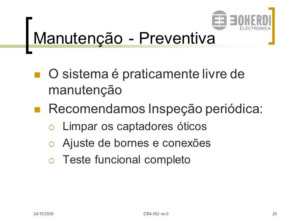 Manutenção - Preventiva