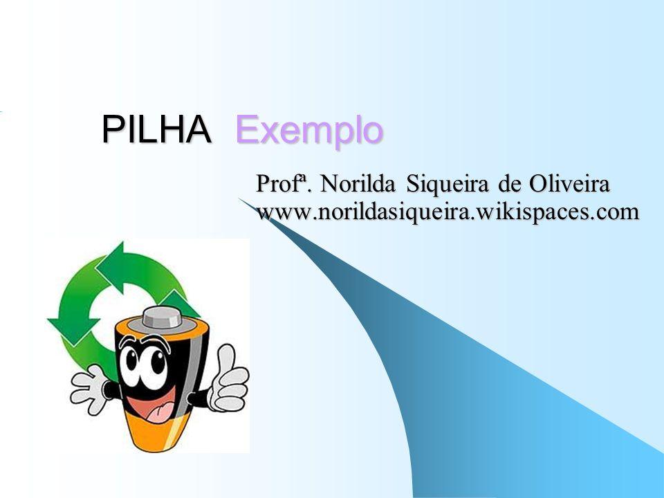 Profª. Norilda Siqueira de Oliveira www.norildasiqueira.wikispaces.com