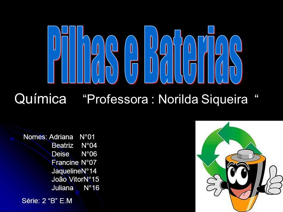 Química Professora : Norilda Siqueira