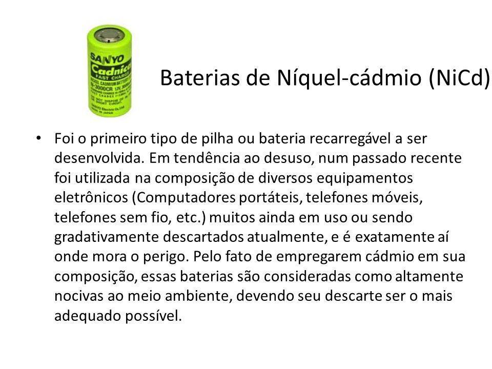 Baterias de Níquel-cádmio (NiCd)