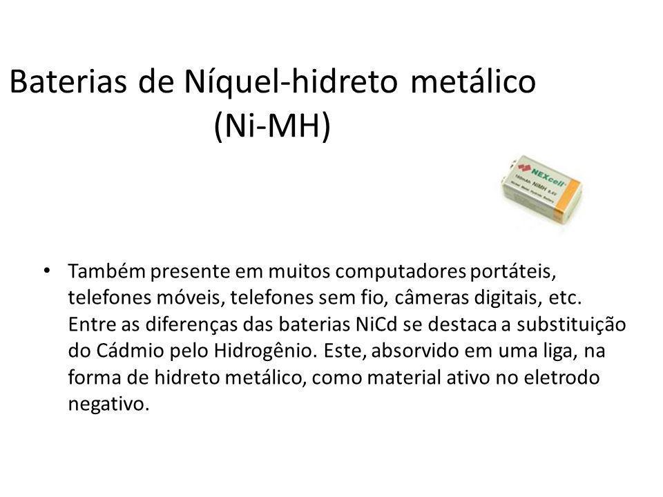 Baterias de Níquel-hidreto metálico (Ni-MH)