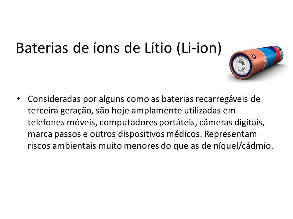Baterias de íons de Lítio (Li-ion)