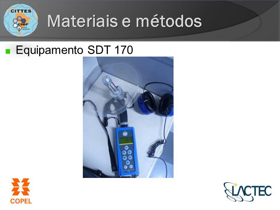 Materiais e métodos Equipamento SDT 170