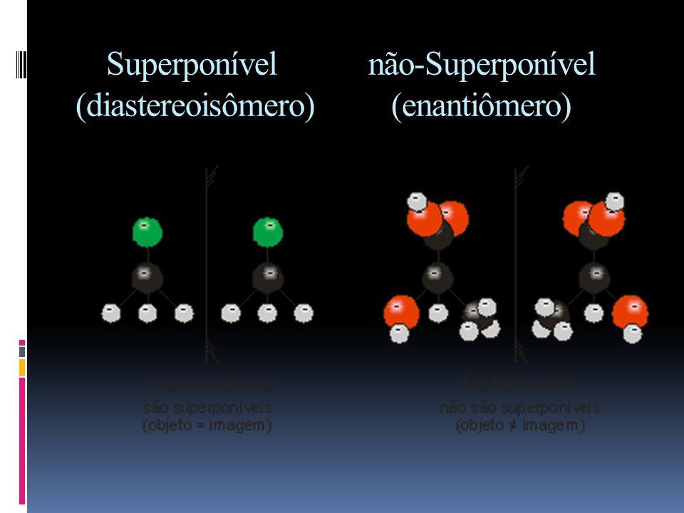 Superponível não-Superponível (diastereoisômero) (enantiômero)
