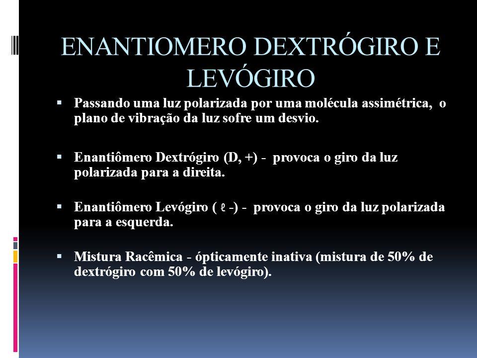 ENANTIOMERO DEXTRÓGIRO E LEVÓGIRO