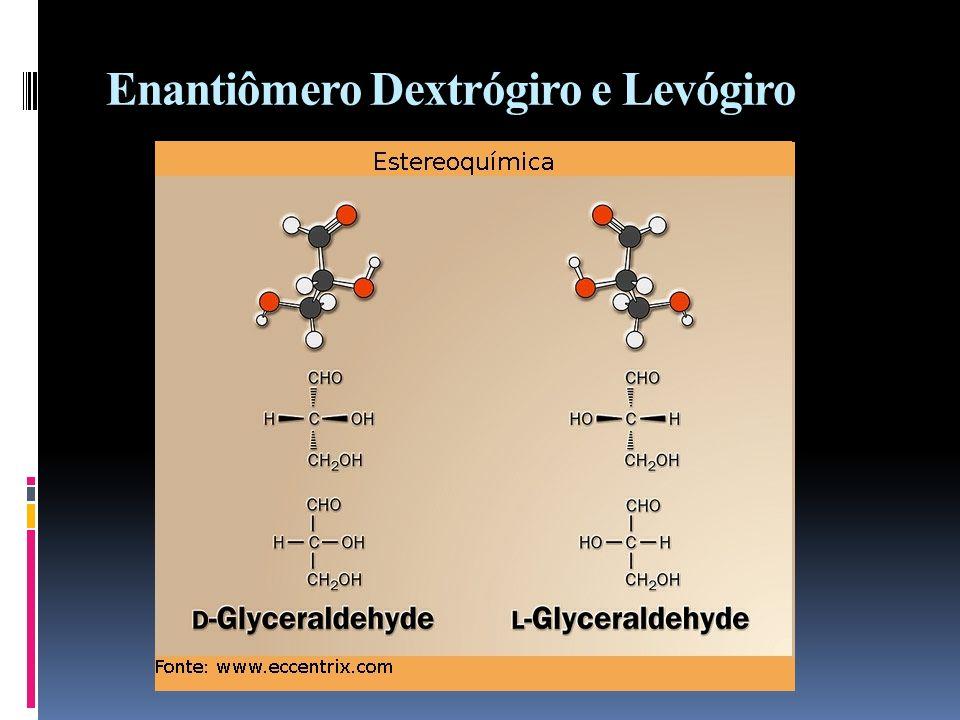 Enantiômero Dextrógiro e Levógiro