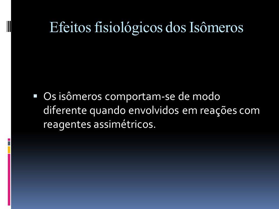 Efeitos fisiológicos dos Isômeros