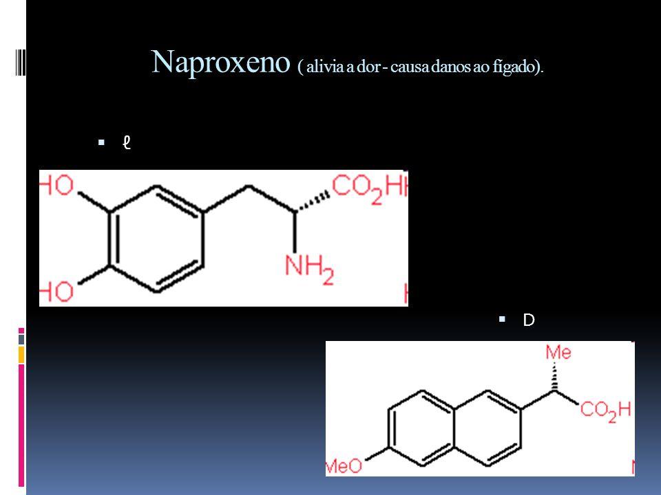 Naproxeno ( alivia a dor - causa danos ao fígado).