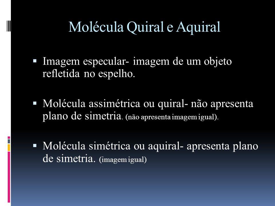 Molécula Quiral e Aquiral