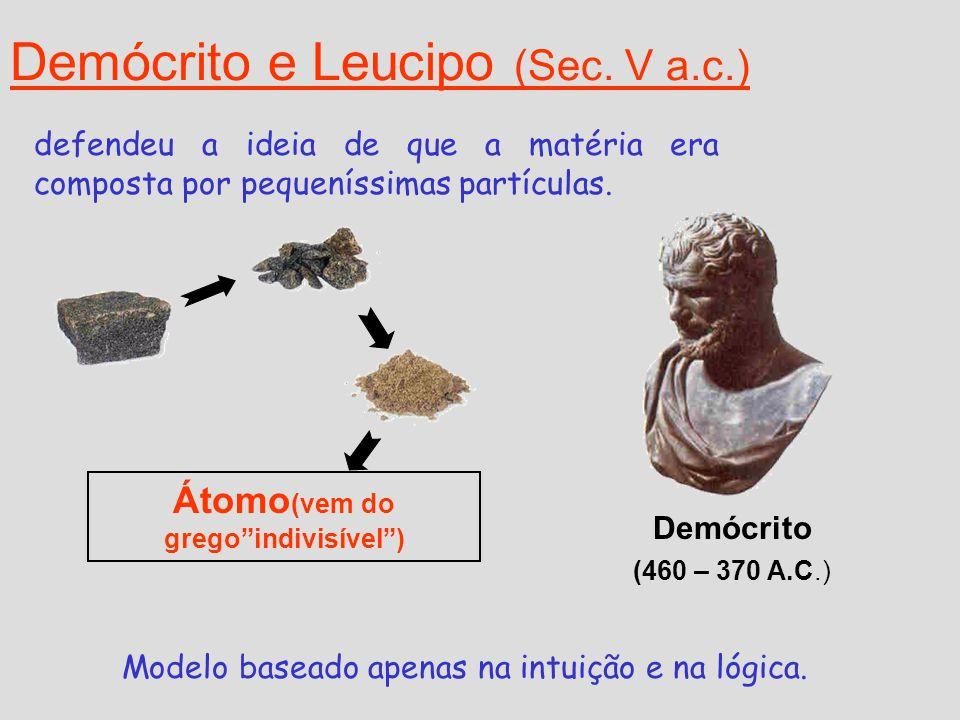 Demócrito e Leucipo (Sec. V a.c.)
