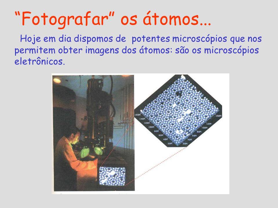 Fotografar os átomos...