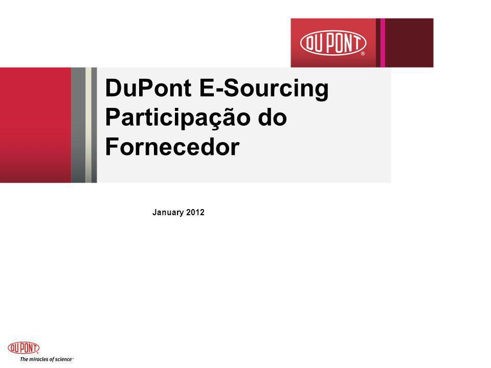 DuPont E-Sourcing Participação do Fornecedor