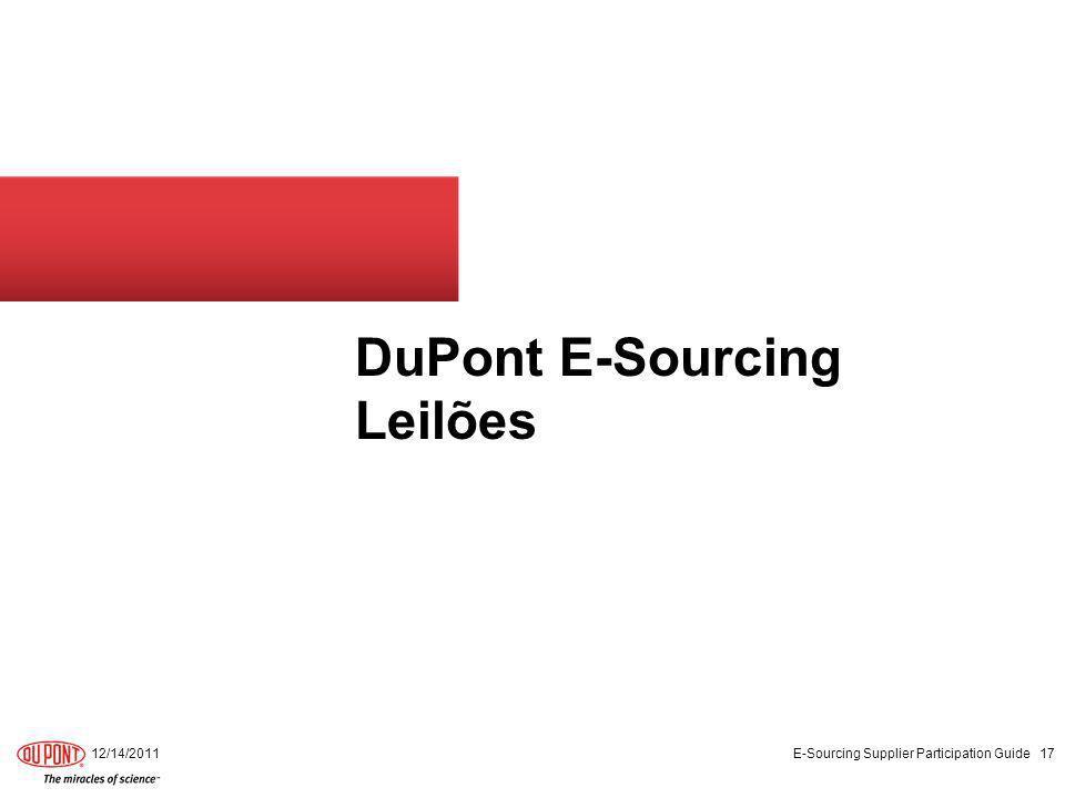 DuPont E-Sourcing Leilões