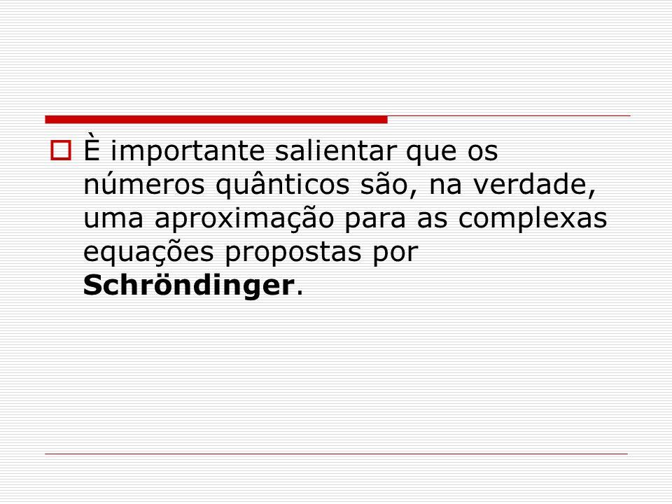 È importante salientar que os números quânticos são, na verdade, uma aproximação para as complexas equações propostas por Schröndinger.