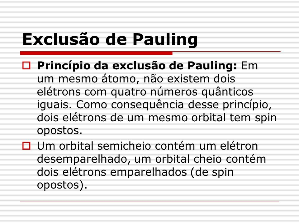 Exclusão de Pauling