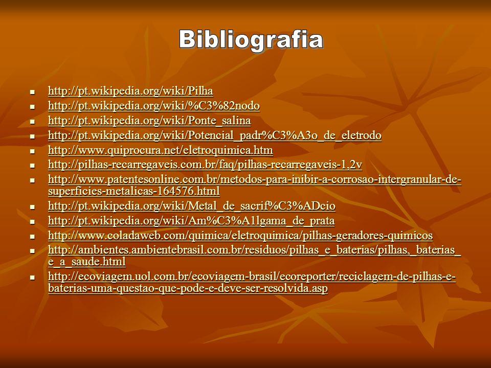 Bibliografia http://pt.wikipedia.org/wiki/Pilha
