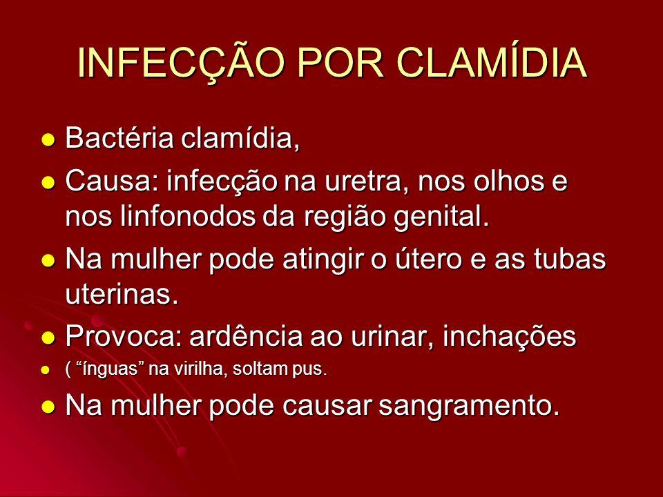INFECÇÃO POR CLAMÍDIA Bactéria clamídia,