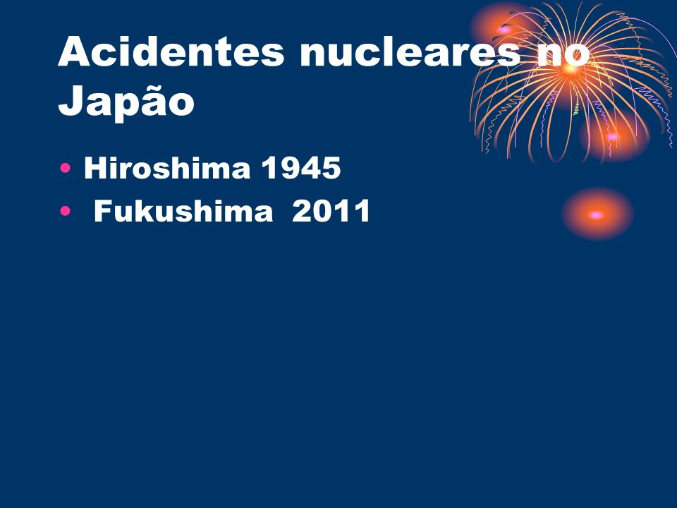 Acidentes nucleares no Japão