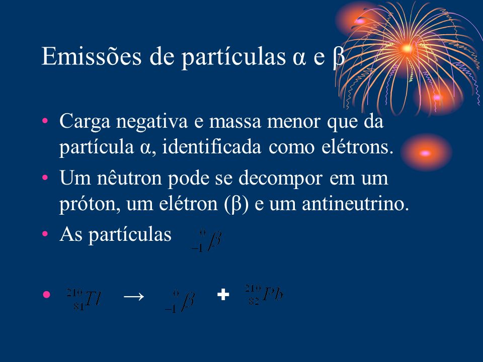 Emissões de partículas α e β