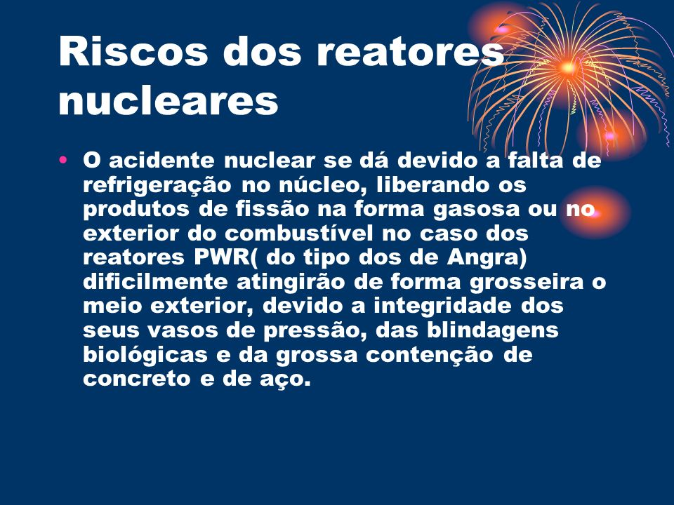 Riscos dos reatores nucleares