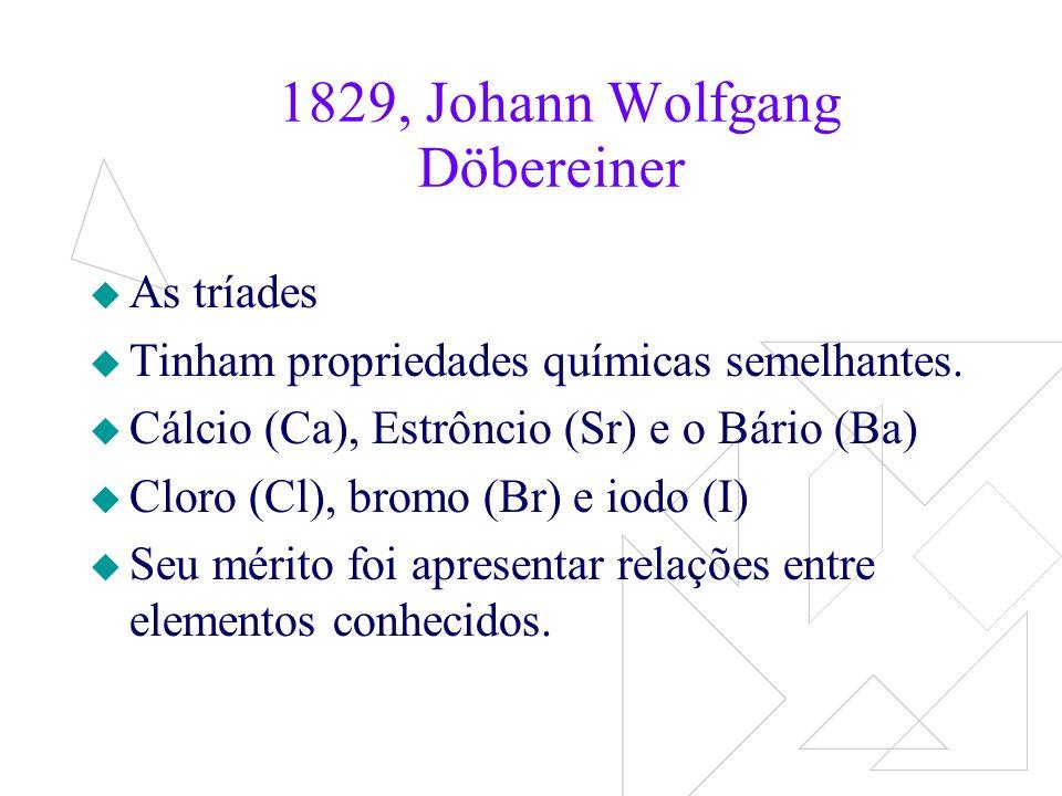 1829, Johann Wolfgang Döbereiner