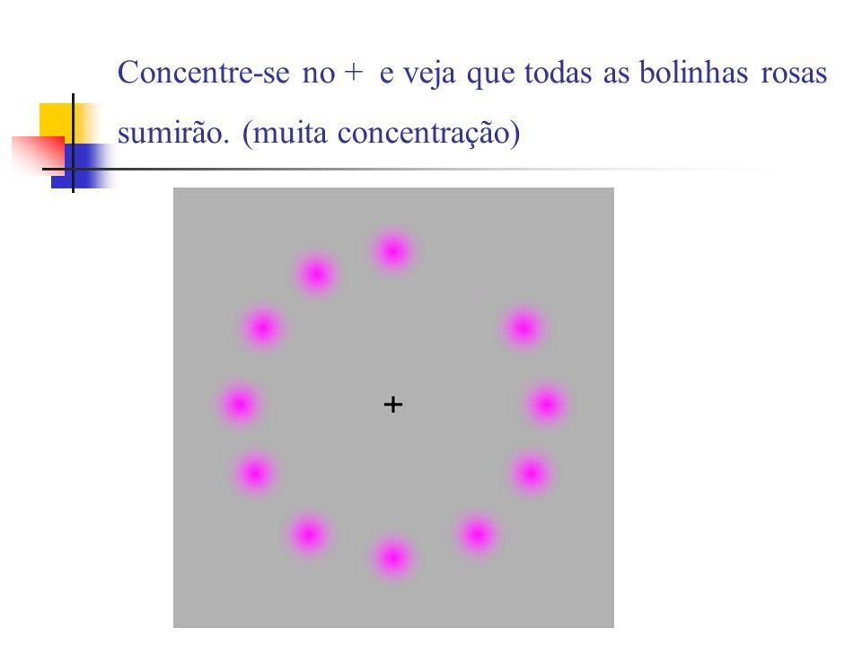 Concentre-se no + e veja que todas as bolinhas rosas sumirão