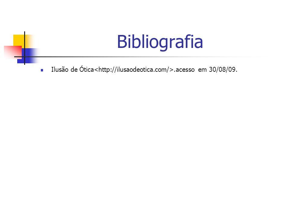 Bibliografia Ilusão de Ótica<http://ilusaodeotica.com/>.acesso em 30/08/09.
