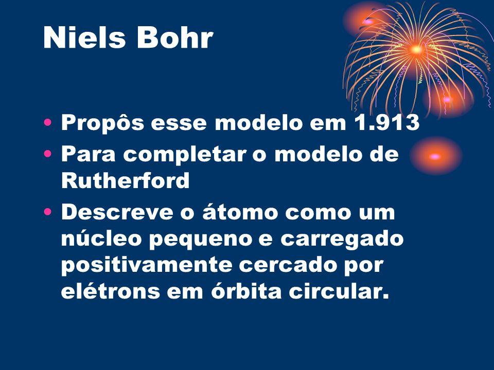 Niels Bohr Propôs esse modelo em 1.913