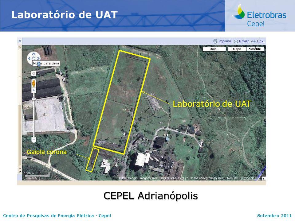 Laboratório de UAT CEPEL Adrianópolis Laboratório de UAT Gaiola corona